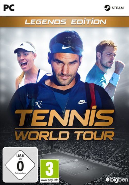 Tennis World Tour Legends Edition - Cover / Packshot