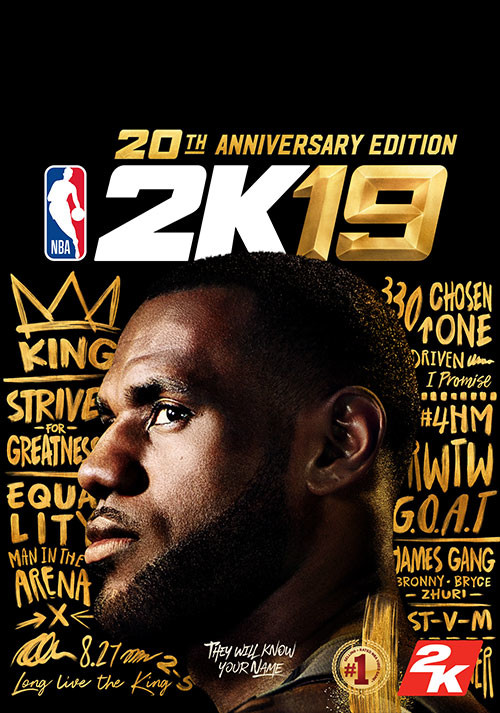 NBA 2K19 20th Anniversary Edition - Cover