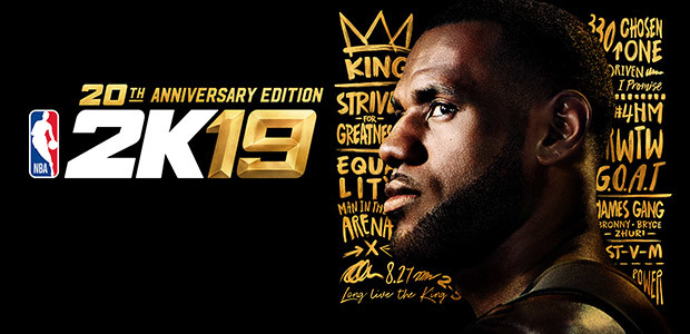 NBA 2K19 20th Anniversary Edition - Cover / Packshot