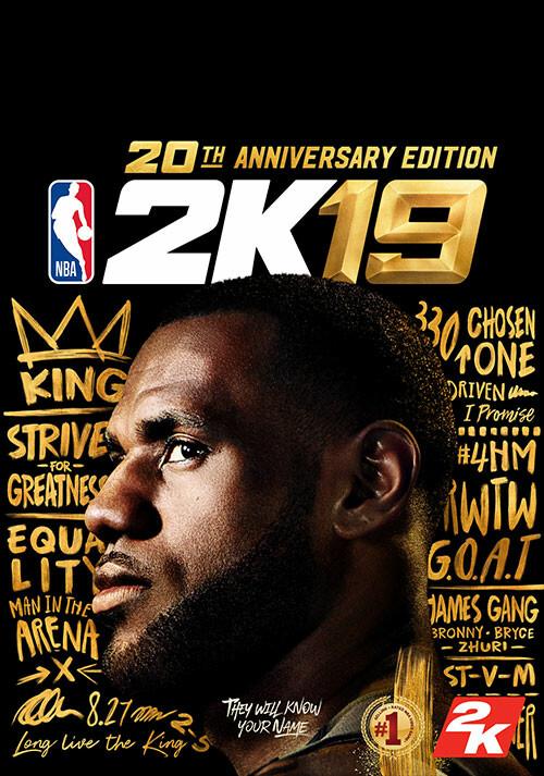 NBA 2K19 20th Anniversary Edition - Cover / Packshot