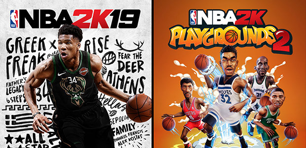 NBA 2K19 + NBA 2K Playgrounds 2 Bundle - Cover / Packshot