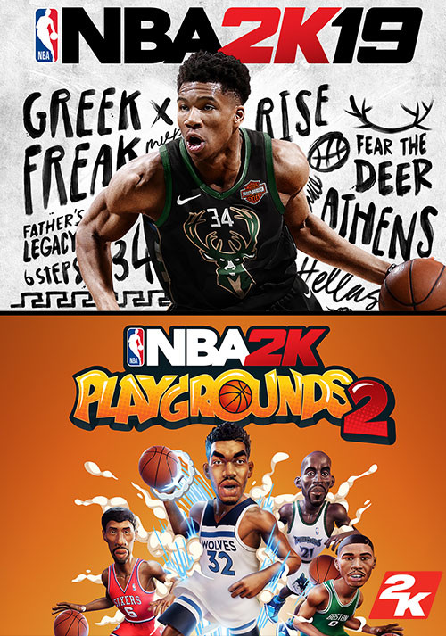 NBA 2K19 + NBA 2K Playgrounds 2 Bundle - Cover