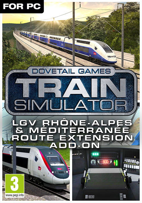 Train Simulator: LGV Rhône-Alpes & Méditerranée Route Extension Add-On - Cover