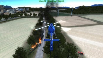 Screenshot1 - Polizeihubschrauber Simulator