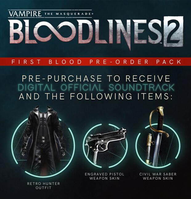Vampire The Masquerade Bloodlines 2 Preorder Bonus