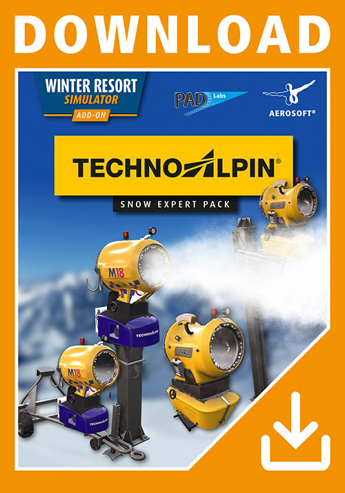 Winter Resort Simulator - TechnoAlpin - Snow Expert Pack - Cover / Packshot