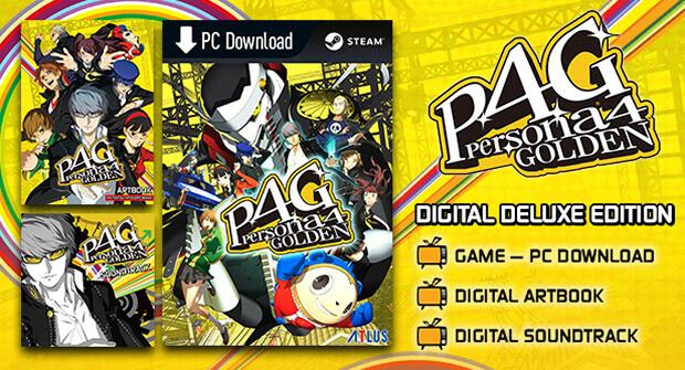 Persona 4 Golden Deluxe Content