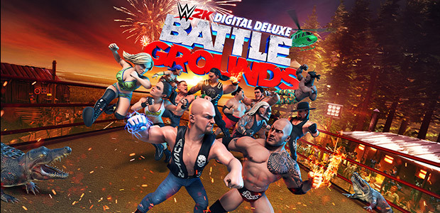 WWE 2K Battlegrounds - Digital Deluxe Edition - Cover / Packshot