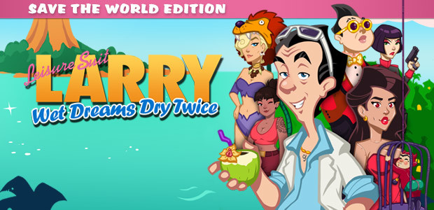 Leisure Suit Larry - Wet Dreams Dry Twice - Save The World Edition - Cover / Packshot