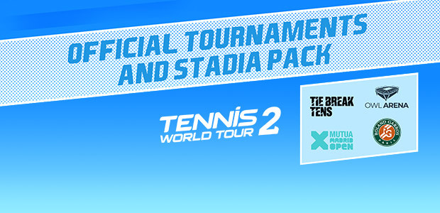 Tennis World Tour 2 Official Tournaments and Stadia Pack - Cover / Packshot