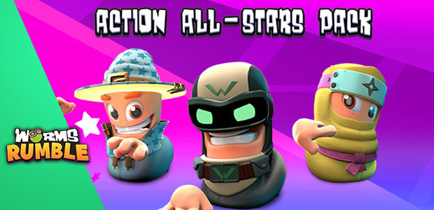 Worms Rumble - Action All-Stars Pack  - Cover / Packshot