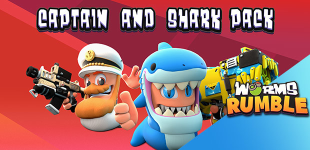 Worms Rumble - Captain & Shark Double Pack - Cover / Packshot