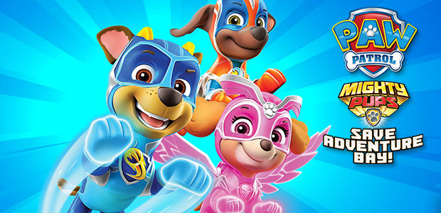 PAW Patrol Mighty Pups Save Adventure Bay - Cover / Packshot