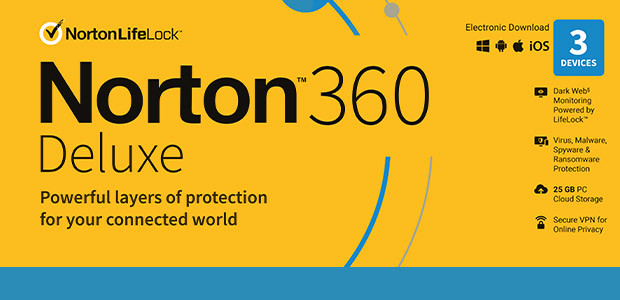 Norton 360 Deluxe | 3 Devices | 1 Year Subscription with Automatic Renewal - Cover / Packshot
