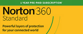 Norton 360 Standard | 1 Device | 1 Year Subscription with Automatic Renewal