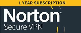 Norton Secure VPN | 3 Geräte | 1-Jahres-Abonnement mit automatischer Verlängerung