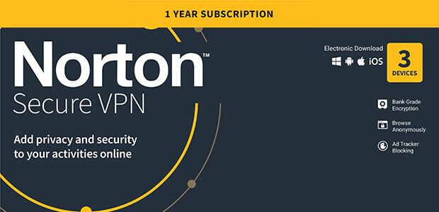 Norton Secure VPN | 3 Geräte | 1-Jahres-Abonnement mit automatischer Verlängerung - Cover / Packshot