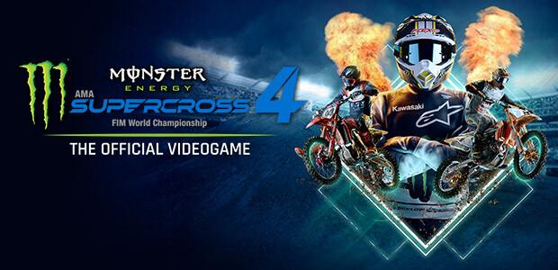 Monster Energy Supercross - The Official Videogame 4 - Cover / Packshot