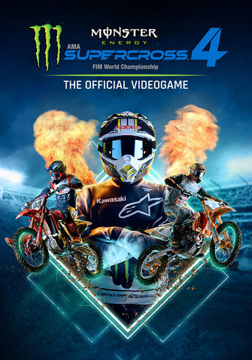Monster Energy Supercross - The Official Videogame 4 - Cover / Packshot
