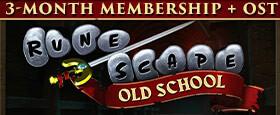 Old School RuneScape - 3 Monate Mitgliedschaft + Soundtrack