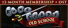Old School RuneScape - Abonnement 12 Mois + BO