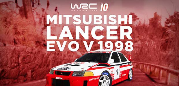 WRC 10 Mitsubishi Lancer Evo V 1998 - Cover / Packshot